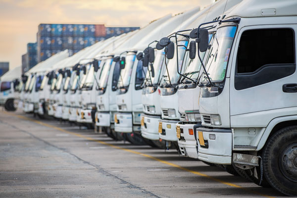 Truck Finance Queensland - row of trucks read to go